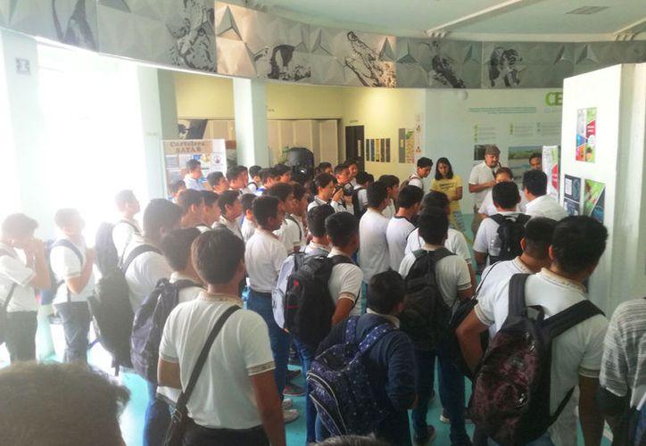 En la inauguración participaron alrededor de 150 estudiantes de la escuela primaria José Antonio Tzuc Esparza.  (Redacción/SIPSE)
