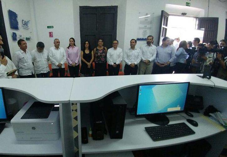 El alcalde de Mérida, Mauricio Vila, puso en marcha este martes el Centro Municipal de Emprendedores. (Foto cortesía del Ayuntamiento)