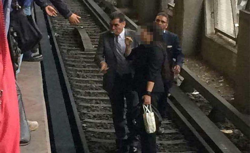 La usuaria esperaba la llegada del tren cuando un hombre en situación de calle la aventó. (Excelsior)