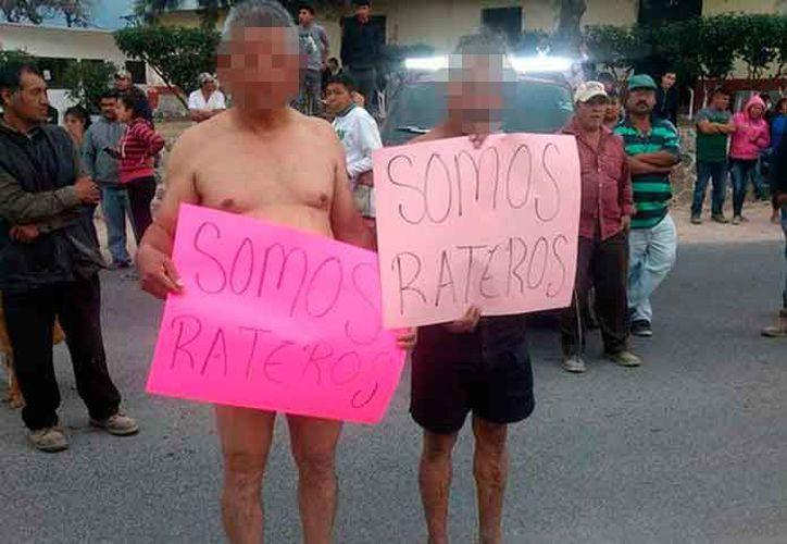 Los sujetos fueron detenidos luego de haber cometido un robo contra un repartidor de gas. (Foto: Debate)