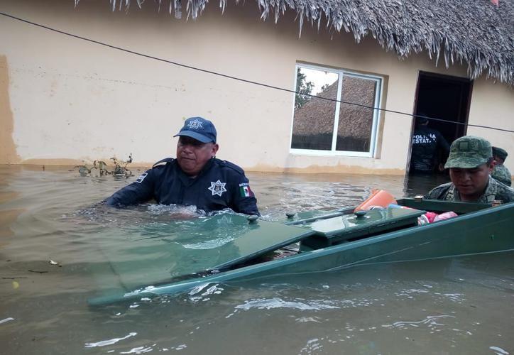 Más de dos mil viviendas en 28 comunidades sufrieron daños por las inundaciones. (Redacción/SIPSE)