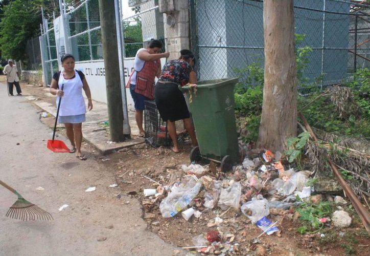 Los deshechos acumulados generan una fuerte pestilencia. (Carlos Yabur/SIPSE)