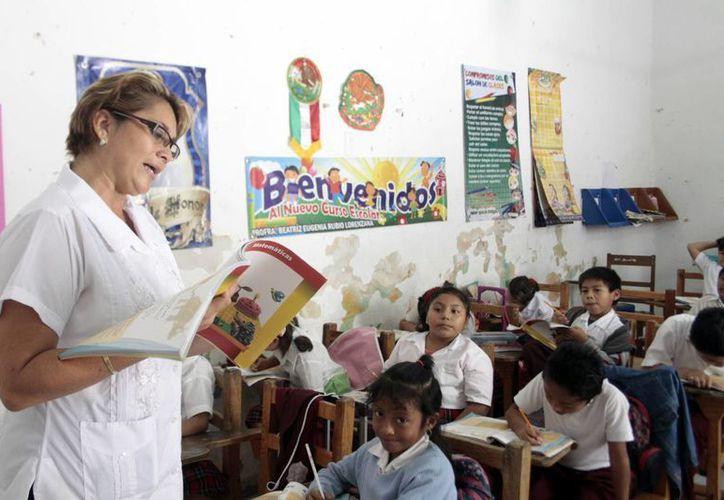 La convocatoria de cursos para actualización docente está dirigida a maestros de educación básica. (Christian Ayala/SIPSE)