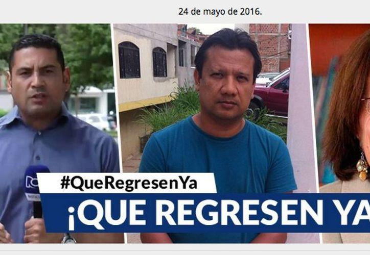 Diego D'Pablos, Carlos Melo y la española Salud Hernández están desaparecidos. (Univision.com)