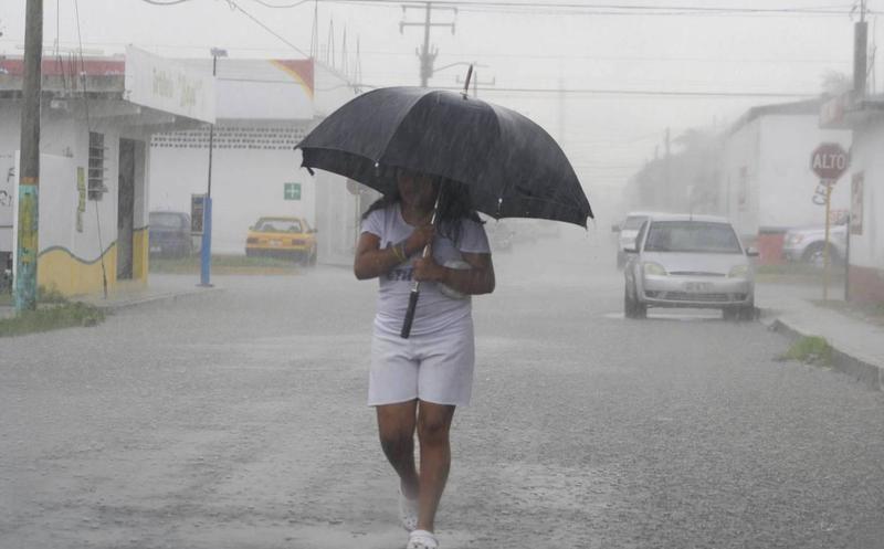 Prevén lluvias de fuertes a intensas en sureste del país