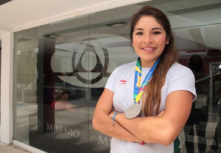 Guadalupe Quintal platicó de sus experiencias en las artes marciales. (Milenio Novedades)