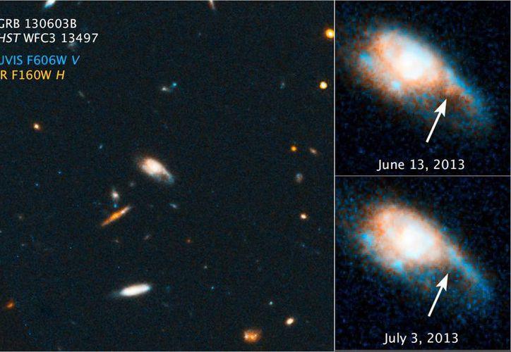 La kilonova se produce por la explosión entre dos estrellas de neutrones ultradensas o entre una estrella y un agujero negro. (Space.com)