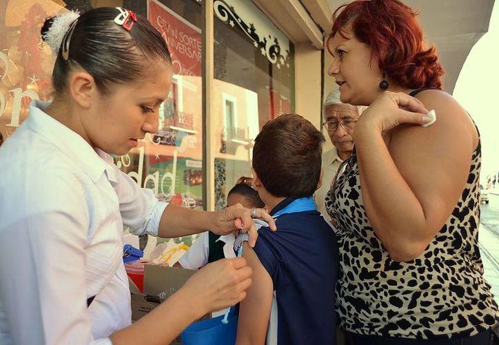La vacuna contra la influenza estacional es para la población de cinco a 59 años de edad. (Milenio Novedades)