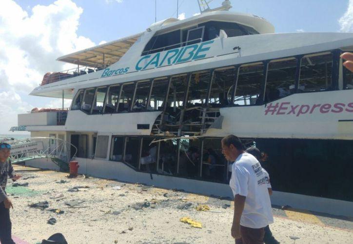 La explosión en el ferry se registró el miércoles 21 de febrero pasado. (Redacción)