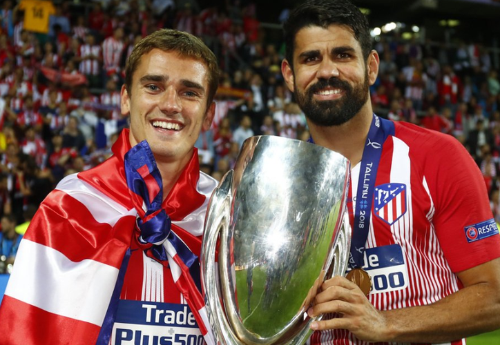 Griezmann se mostró muy satisfecho por su decisión de no cambiar el Atlético de Madrid. (Twitter)