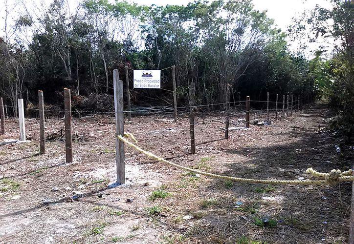 La superficie de tierras en disputa con el IPAE inicia desde la comunidad de Reforma hasta los límites con el Ejido Juan Sarabia.