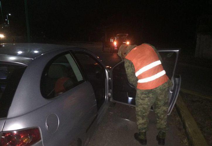 La Gendarmería y militares continuarán dando sus recorridos en dicha comunidad para detectar cualquier actividad delictiva.  (Redacción/SIPSE)