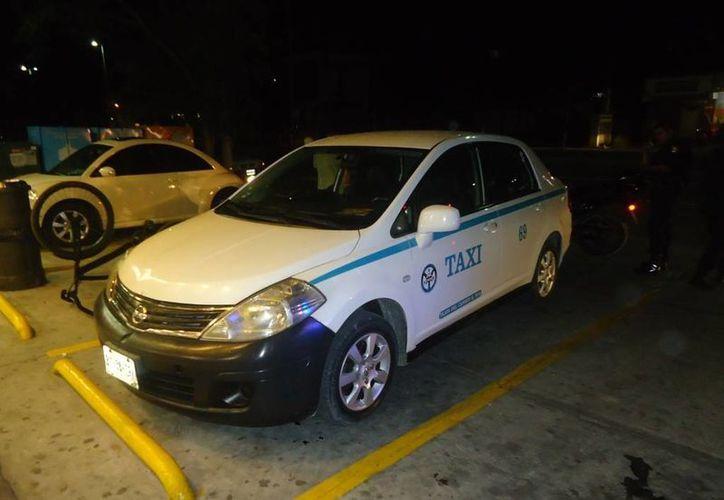 El taxista intentó escapar de sus atacantes, pero no lo logró. (Redacción/SIPSE)