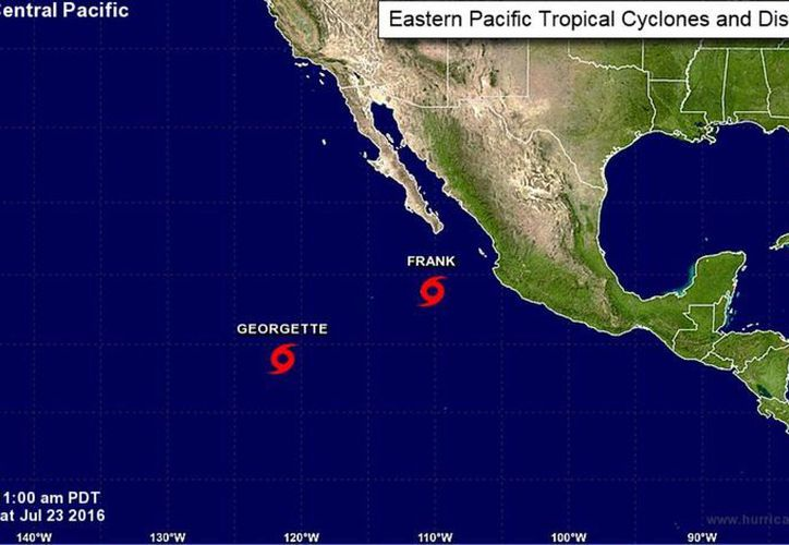 Se espera que 'Frank' se convierta en huracán categoría 1 en el transcurso de este sábado. (nhc.noaa.gov)