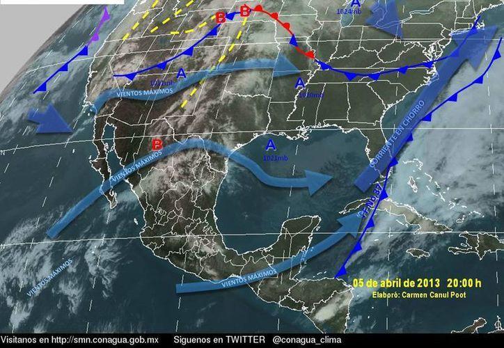 Soplarán vientos de componente oriental de 30 a 50 km/h. (Cortesía/SIPSE)