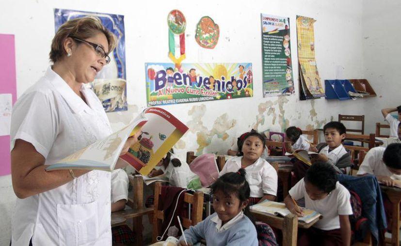 Los aspirantes deben contar con plaza base y una experiencia mínima de dos años como profesores de educación indígena. (SIPSE/Archivo)