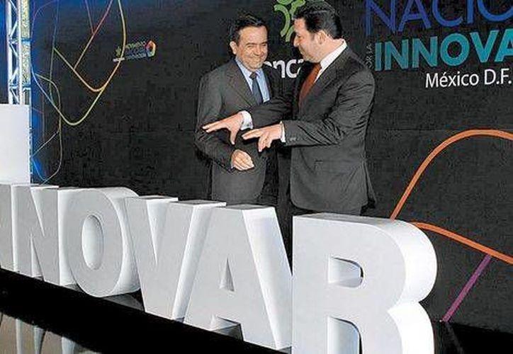 El secretario de Economía, Ildefonso Guajardo, en el lanzamiento del Movimiento Nacional por la Innovación. (Juan Carlos Bautista/Milenio)