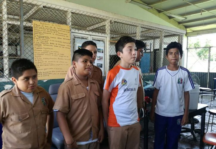 Es la primera vez que una escuela de nivel básico lleva a cabo este tipo de experimento. (Joel Zamora/SIPSE)