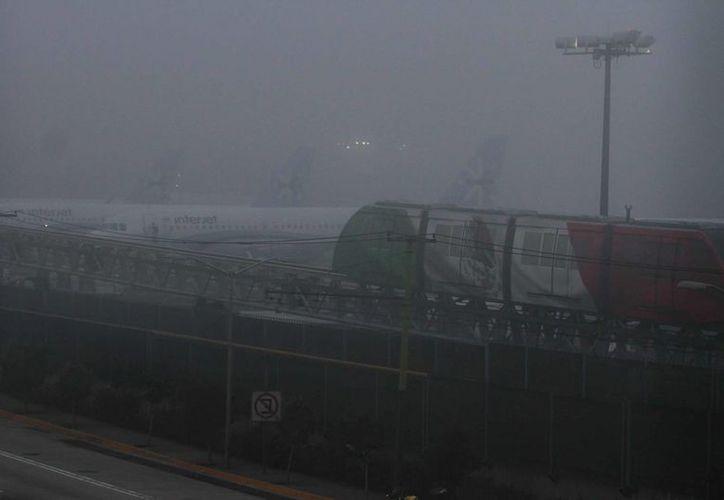 Esta mañana un banco de niebla afecta operaciones en el Aeropuerto Internacional de la Ciudad de México (AICM)