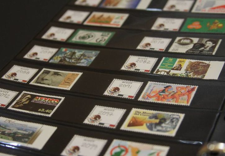Las estampillas son muy apreciadas por los coleccionistas yucatecos. (Milenio Novedades)