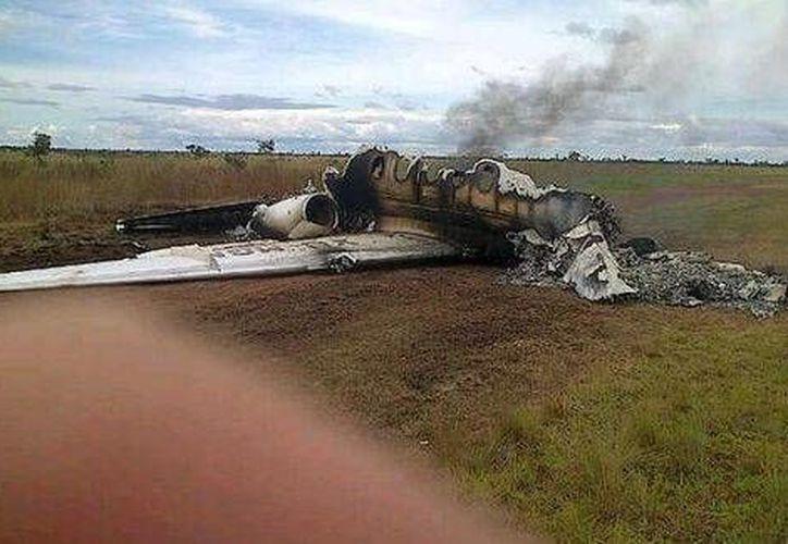 Avión con matrícula de México derribado en Venezuela. (Twitter/ @vladimirpadrino)