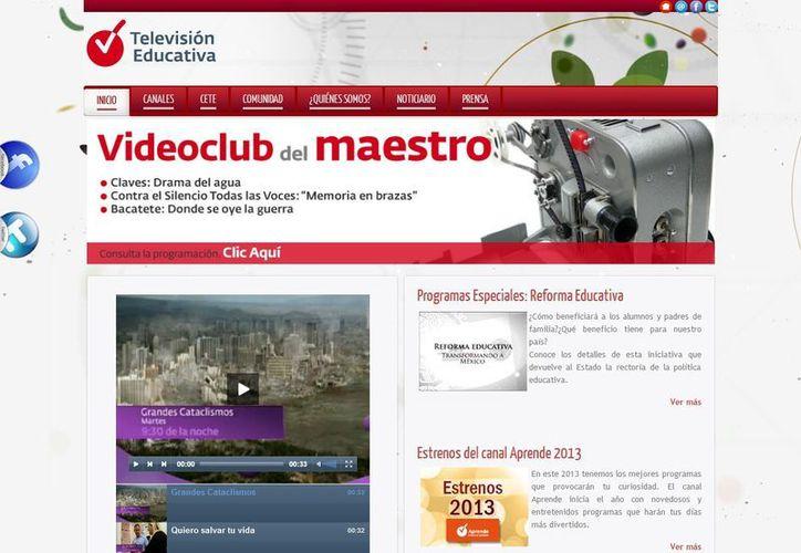 En el portal de Televisión Educativa el usuario puede conocer el perfil de cada canal. (televisioneducativa.gob.mx)