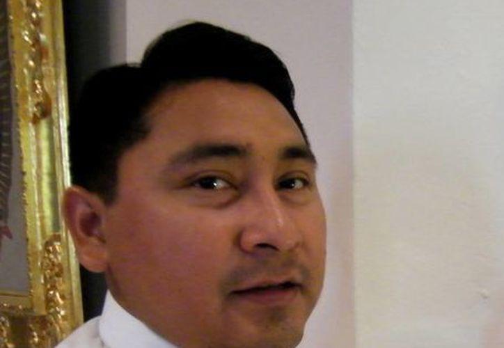 El Pbro. Luis Alfonso Tut Tun, ahora trabaja en la Congregación de los Obispos en Roma. (Milenio Novedades)