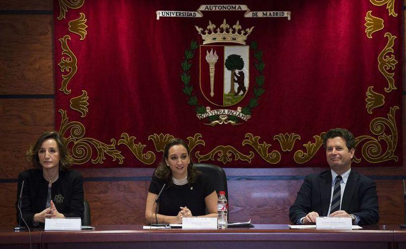 Ante académicos y estudiantes de la Universidad Autónoma de Madrid, Ruiz Massieu indicó que el actual gobierno tiene como prioridad la calidad en los servicios turísticos. (Notimex)