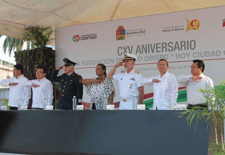 Celebración del aniversario de la fundación de Payo Obispo. (Paloma Wong/SIPSE)