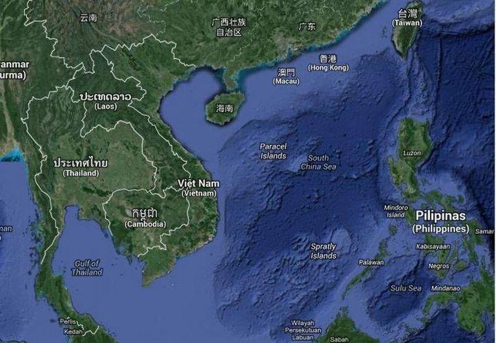Las partes más afectadas por el sismo en Taiwán (en el extremo superior derecho) fueron los distritos de Hualien y los de Nantou e Ilan. (Google Maps)