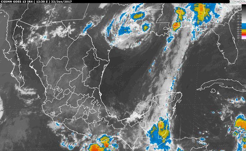 Prevén un cielo nublado e intervalos de chubascos en Quintana Roo. (Imagen de satélite).