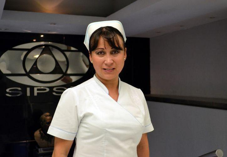 La presidenta del cuerpo colegiado, Cynthia Molina Gómez.. (Theany Ruz/SIPSE)