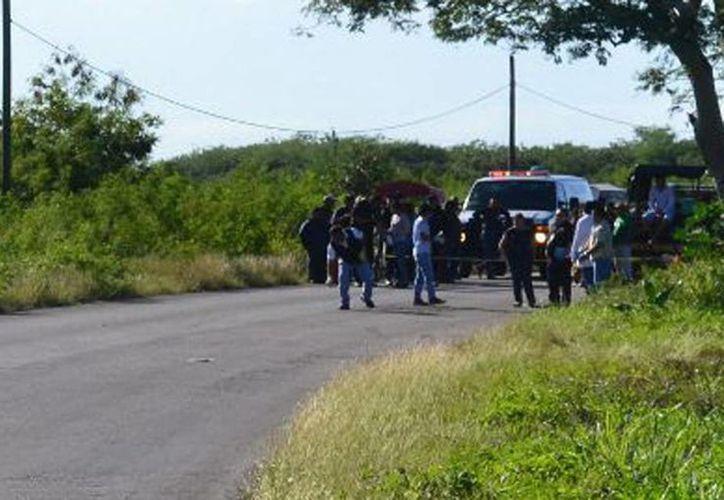 En la entrada a Seyé ocurrió uno de los accidentes, en donde falleció en el lugar falleció un anciano ciclista. (Milenio Novedades)