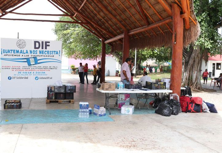 Quintana Roo mantiene acopio de víveres para damnificados en Guatemala. (FOTO: SIPSE)