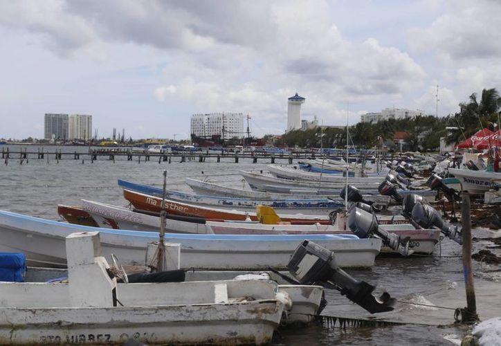 Suspenden las actividades de las embarcaciones durante dos días. (Israel Leal/SIPSE)