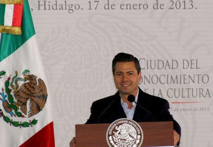 """Peña Nieto dijo que """"aprovechemos nuestra riqueza natural y demos certeza jurídica a quienes han trabajado la tierra"""". (Archivo/Notimex)"""
