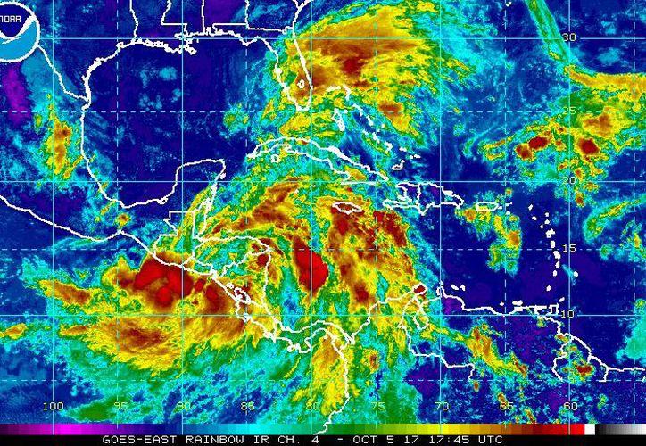 Se pronostican lluvias fuertes en el oriente, centro, norte y noreste de Yucatán. (NOAA)