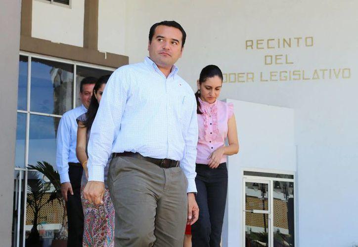 """El alcalde Renán Barrera """"visitó"""" nuevamente el  Congreso. (Cortesía)"""