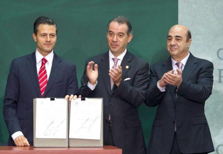 Peña Nieto confió que el nuevo Código de más certeza y justicia expedita a la población. (Presidencia)