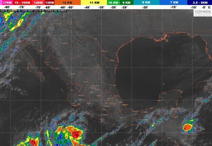 s vientos oscilarán en los 26 kilómetros por hora, en Cancún. (Foto: SMN)