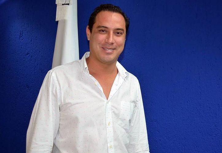 Imagen del presidente del PAN Yucatán, Raúl Paz Alonzo, quien dio a conocer que se hará un análisis del partido para conocer los aciertos y errores que se han cometido. (Milenio Novedades)
