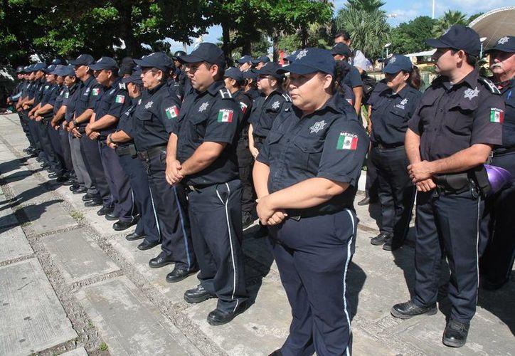 Esperan que en enero próximo sea evaluado el resto de los policías. (Julián Miranda/SIPSE)