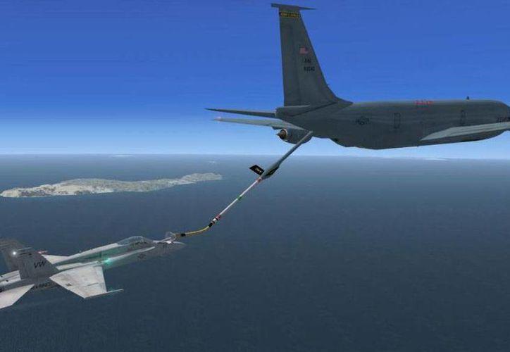 Los aviones cisterna -como el que se estrelló en Kirguistán- sirven para abastecer aviones en combate. (Imagen virtual tomada de argavirtual.foroactivo.com)