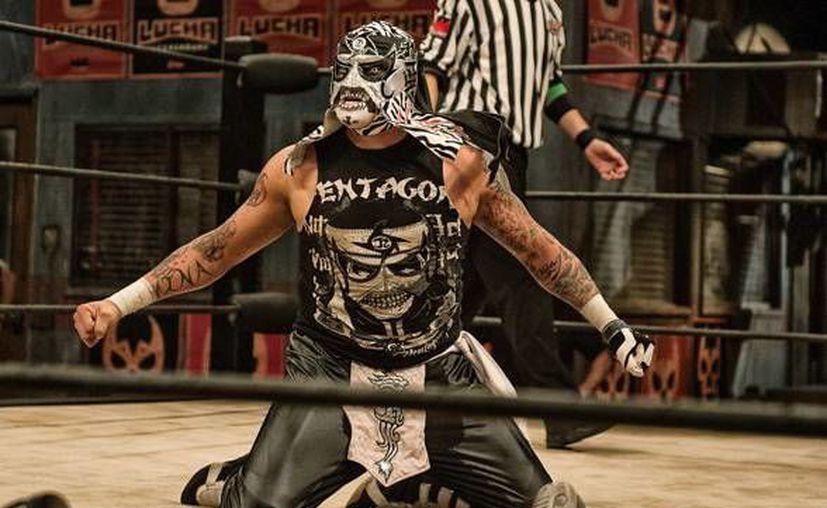 Pentagón Jr (en la foto) enfrentará a Johnny Mundo por el Campeonato Mundial de la empresa de Lucha Libre AAA.(Foto tomada de Twitter/AAA)