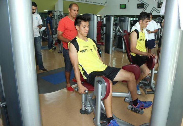 Felipe Sifuentes, durante la prueba de gimnasio, ayer. (Milenio Novedades)