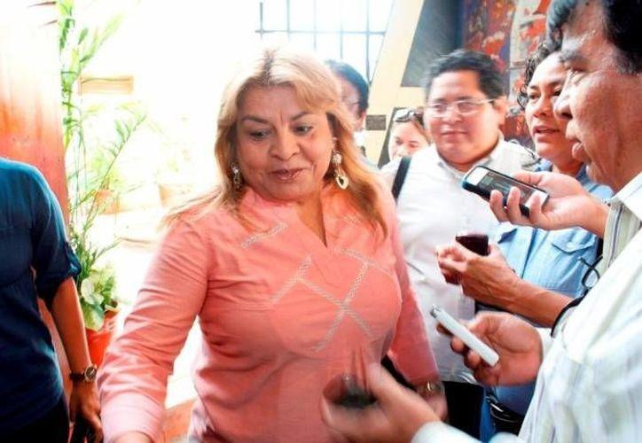 La ex alcaldesa Edith Mendoza Pino abandonó esta noche el penal de Playa del Carmen.  (Archivo/SIPSE)