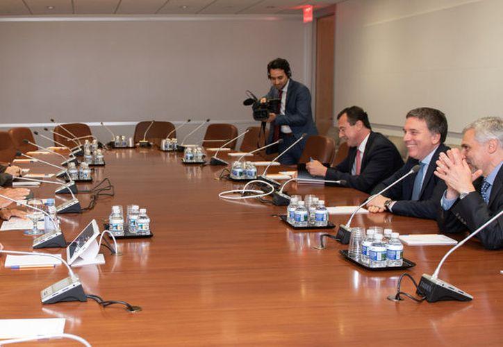 Se reúnen la directora gerente del FMI, Christine Lagarde, y el ministro argentino de Economía, Nicolás Dujovne. (NA)