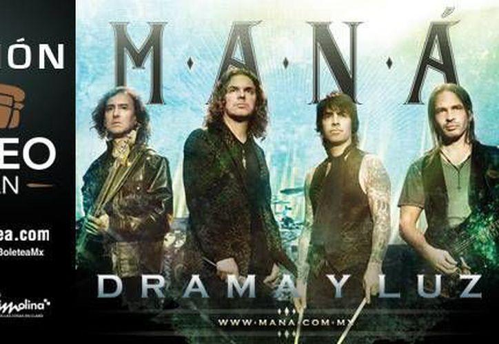 La promoción del concierto de Maná en Mérida. (Facebook)