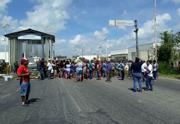 Ejército, Marina y Seguridad Pública resguardaron las instalaciones del puerto aduanal de los inconformes. (Carlos Castillo/SIPSE)