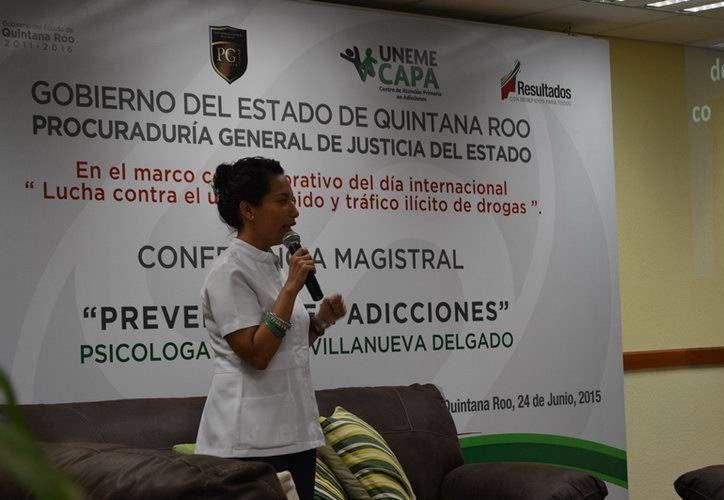 La conferencia fue ofrecida en el marco del Día Internacional de la Lucha contra el Uso Indebido y Tráfico Ilícito de Drogas. (Redacción/SIPSE)